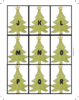 Christmas Tree Letter Match Sensory Bin Printable Activity