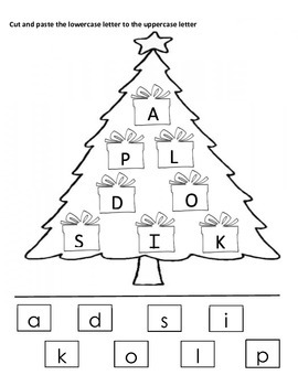 Christmas Tree Letter Matching