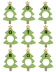 Christmas Tree Letter Matching File Folder Activity