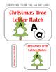 Christmas Tree Letter Matching File Folder Activity