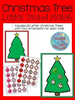 Christmas Tree Letter Sound Match