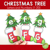 Christmas Tree Letter and Number Cards