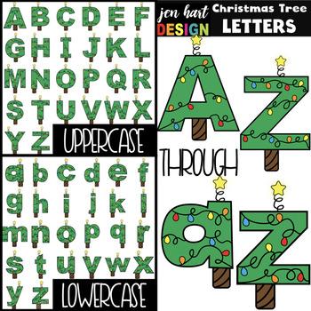 Christmas Tree Letters Clip Art- {jen hart Clip Art)