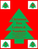Christmas Tree Letters and Numbers