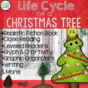 Christmas Tree Life Cycle- Book, Reading Comprehension, Gl