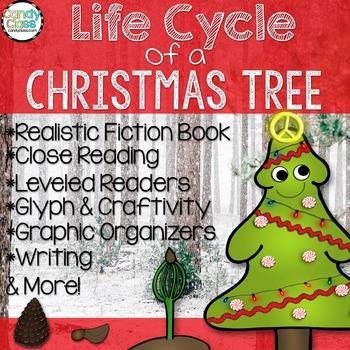 Christmas Tree Life Cycle- Book, Reading Comprehension, Gl
