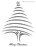 Christmas Tree Lined Paper