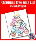 Christmas Tree List Ma liste de Noël  French Holiday Project