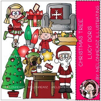 Christmas Tree Lucy Doris clip art- by Melonheadz