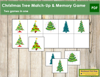 Christmas Tree Match-Up and Memory