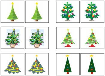 Christmas Tree Match-Up and Memory