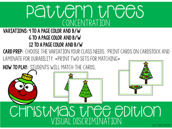 Christmas Tree Matching Activities for Toddlers, Preschool, and PreK