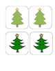 Christmas - Tree - Matching and Memory Game - 11 pairs!