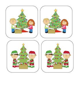 Christmas - Tree - Matching and Memory Game - 11 pairs!