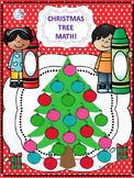 """Christmas Tree Math """"Addition and Subtraction"""" (Worksheets)"""