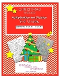 Christmas Mental Math Activity Center Multiplication Division 3rd Grade Coloring