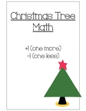 Christmas Tree Math/ Art Project (One More/ One Less)