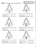 Christmas Tree Math - Composing & Writing Number Words
