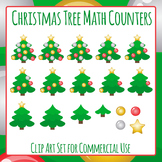 Christmas Tree Math Counters Clip Art Set for Commercial Use