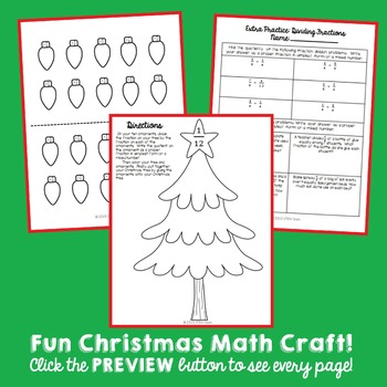 Christmas Tree Math Craft: Dividing Fractions