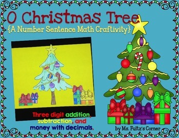 Christmas Tree Math Craftivity: Addition and Subtraction Number Sentences