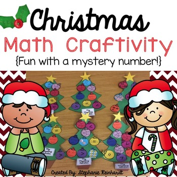 Christmas Tree Math Craftivity....*Fun with a Mystery Number!*