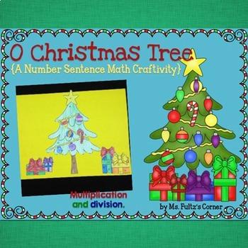 Christmas Tree Math Craftivity: Multiplication and Divisio