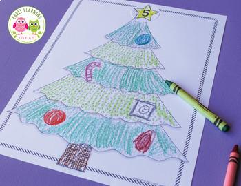 Christmas Math Activities: Christmas Tree Math Play Dough Mat