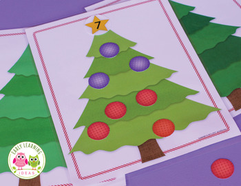 Christmas Math Activities: Christmas Tree Math Play Dough Mat