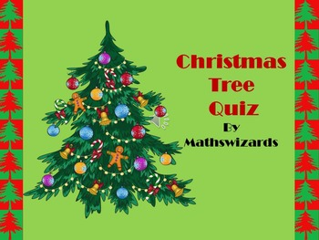 CHRISTMAS MATH POWERPOINT QUIZ