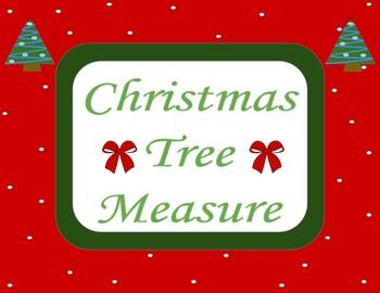 Christmas Tree Measure (Math Center)
