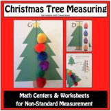 Christmas Activities: Christmas Tree Measuring (Christmas Math Center/Worksheet)