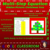 Christmas Math Multi-step Equations Activity - Google Classroom Ready!