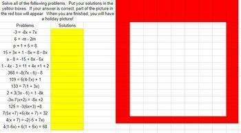 Christmas Math Multi-step Equations Activity - Google Classroom Ready!