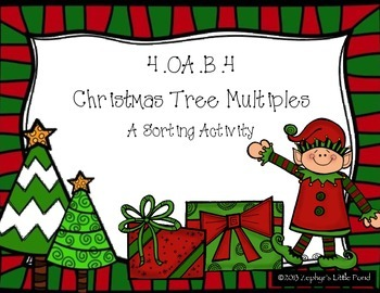 Christmas Tree Multiples Sort {Math Game}