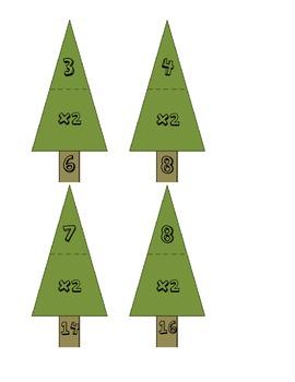 Christmas Tree Multiplication 2 Family