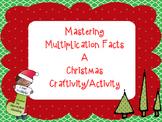 Christmas Tree Multiplication Fact Practice Activity - Craftivity
