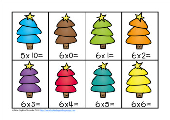 Christmas Tree Multiplication Race