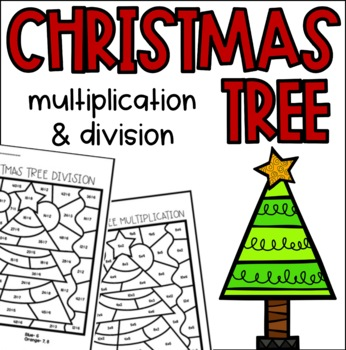Christmas Tree Multiplication and Division Color by Number