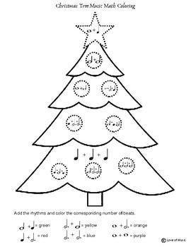 Christmas Music Math Coloring Sheet | Christmas Tree