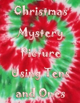 Christmas Tree Mystery Picture Using Tens and Ones