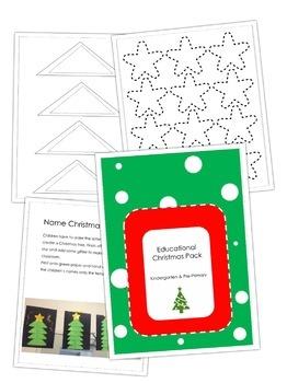 Christmas Tree Name Activity
