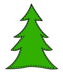 Christmas Tree Name Craft