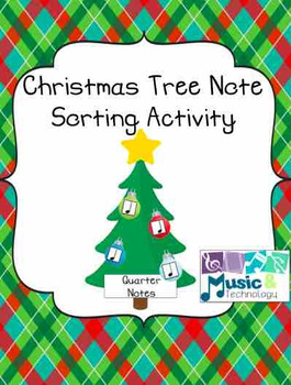 Christmas Tree Note Sorting Activity