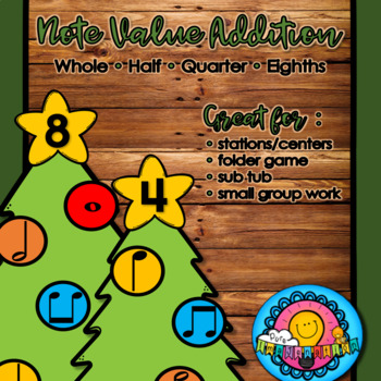 Christmas Tree Note Value Addition Station Center Sub Tub Winter