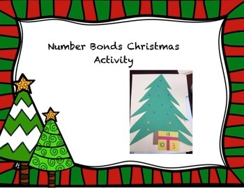 Christmas Tree Number Bond Activity