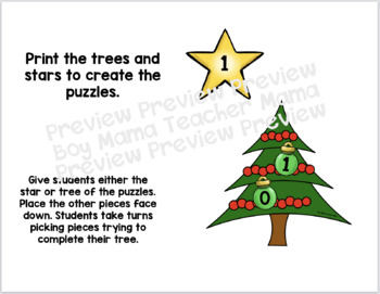 Christmas Tree Number Bond Puzzles