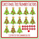 Christmas Tree Number Factors Color Math Clip Art Set Commercial Use
