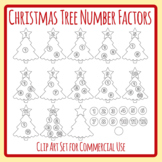 Christmas Tree Number Factors Math Clip Art Set Commercial Use