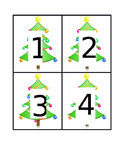 Christmas Tree Number Flashcards 1-20